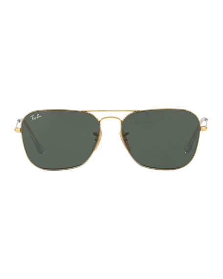 Ray-Ban Men's Metal Rounded Square Sunglasses