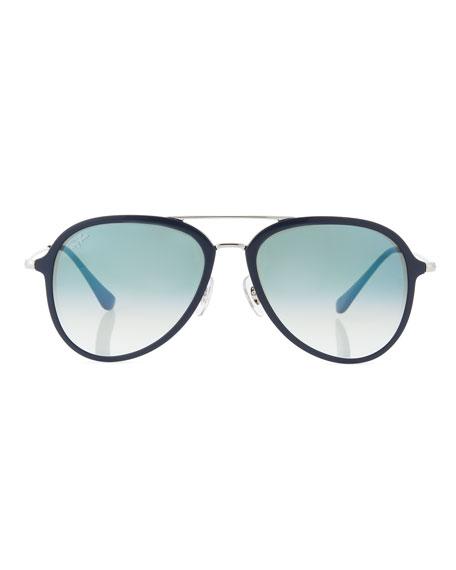 Men's Gradient Propionate Aviator Sunglasses