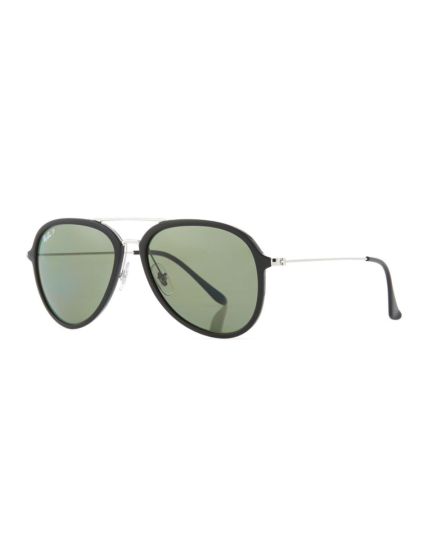 dbc3f43d04 Ray-Ban Men s Polarized Propionate Aviator Sunglasses