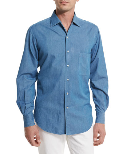 Andre Denim Button-Down Shirt