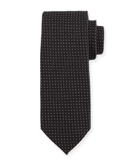 Micro Dot-Print Silk Tie