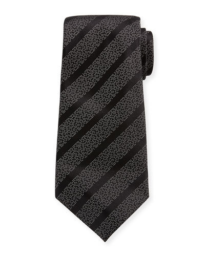 Diagonal Striped Silk-Blend Tie