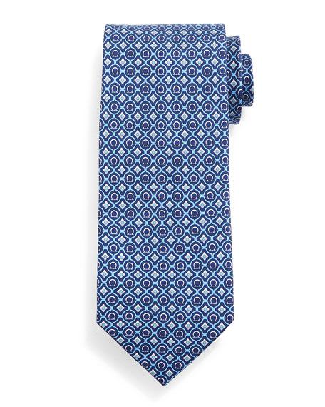 Geometric Gancini-Print Tie