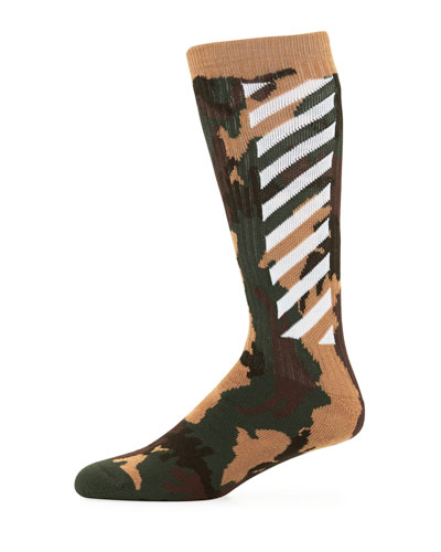 Men's Camouflage Wing-Off Socks