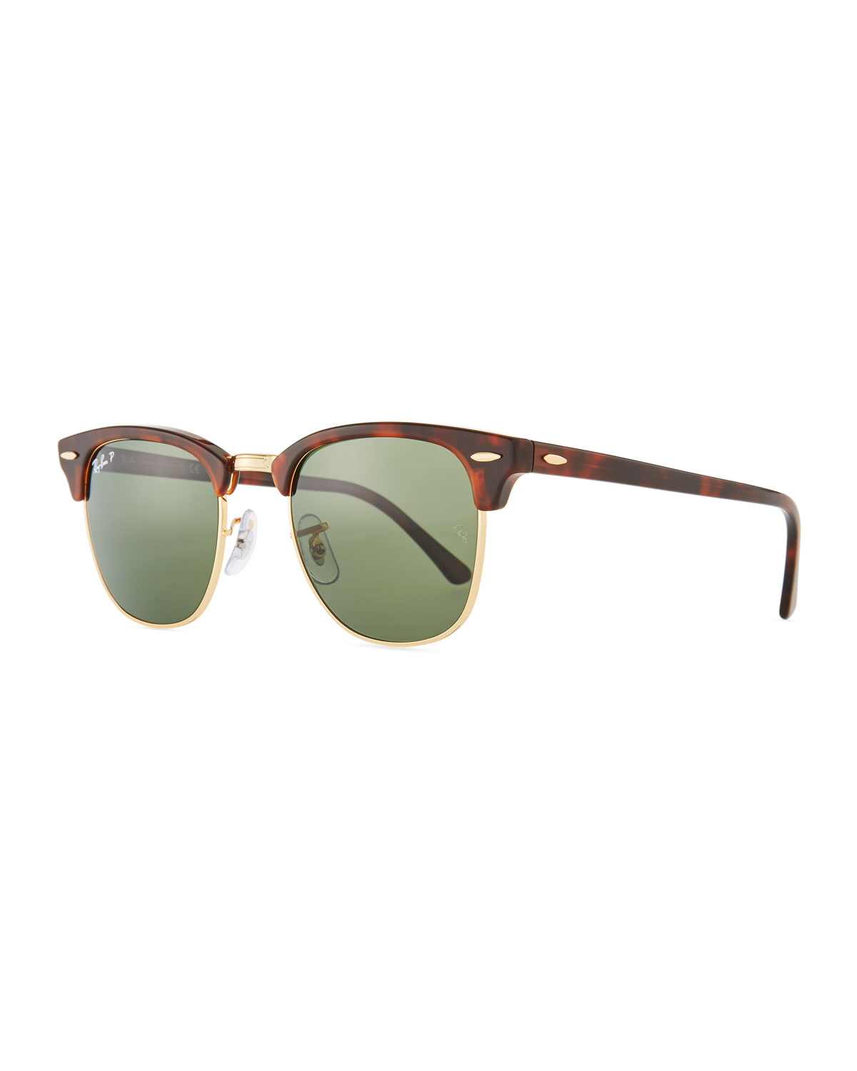 1bc1900618 Ray-Ban Men s Classic Clubmaster Polarized Half-Rim Sunglasses ...
