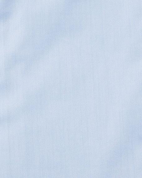 Men's Modern-Fit Cotton-Stretch Dress Shirt, Blue