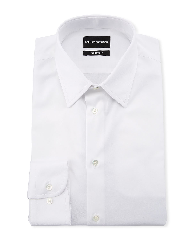 Emporio Armani Men s Modern-Fit Cotton-Stretch Dress Shirt 67207a66311be
