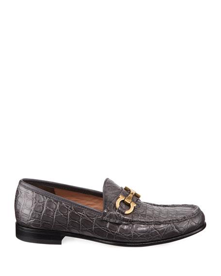 Men's Bond 2 Crocodile Gancini Loafer