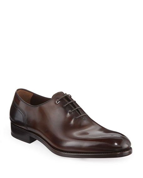 Salvatore Ferragamo Men's Barclay Burnished Tramezza Leather