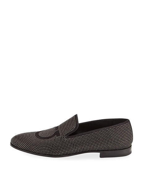 Men's Beverly Studded Suede Venetian Loafer