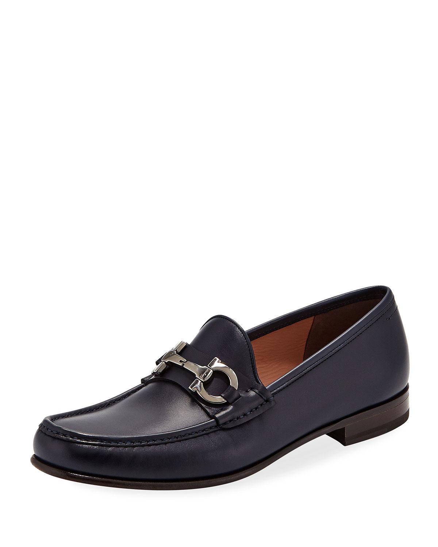 1ef9323e08191 Men's Bond Leather Gancini Metal-Bit Vintage Loafer