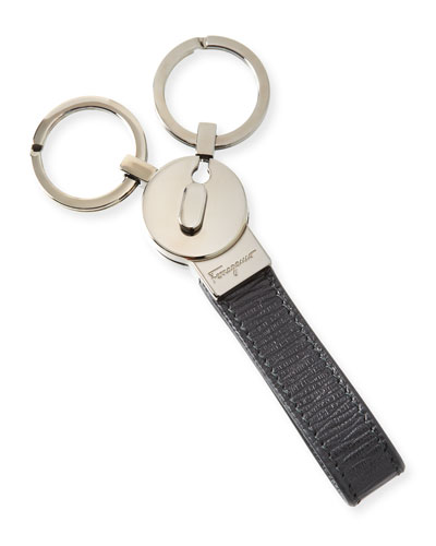 Leather Loop Double Key Chain