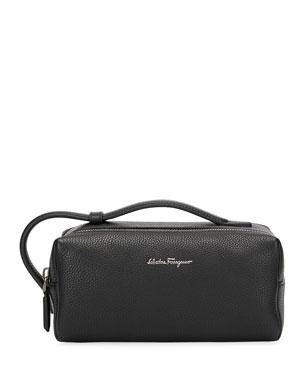 376f62b5f1b4 Salvatore Ferragamo Men s Firenze Leather Toiletry Bag