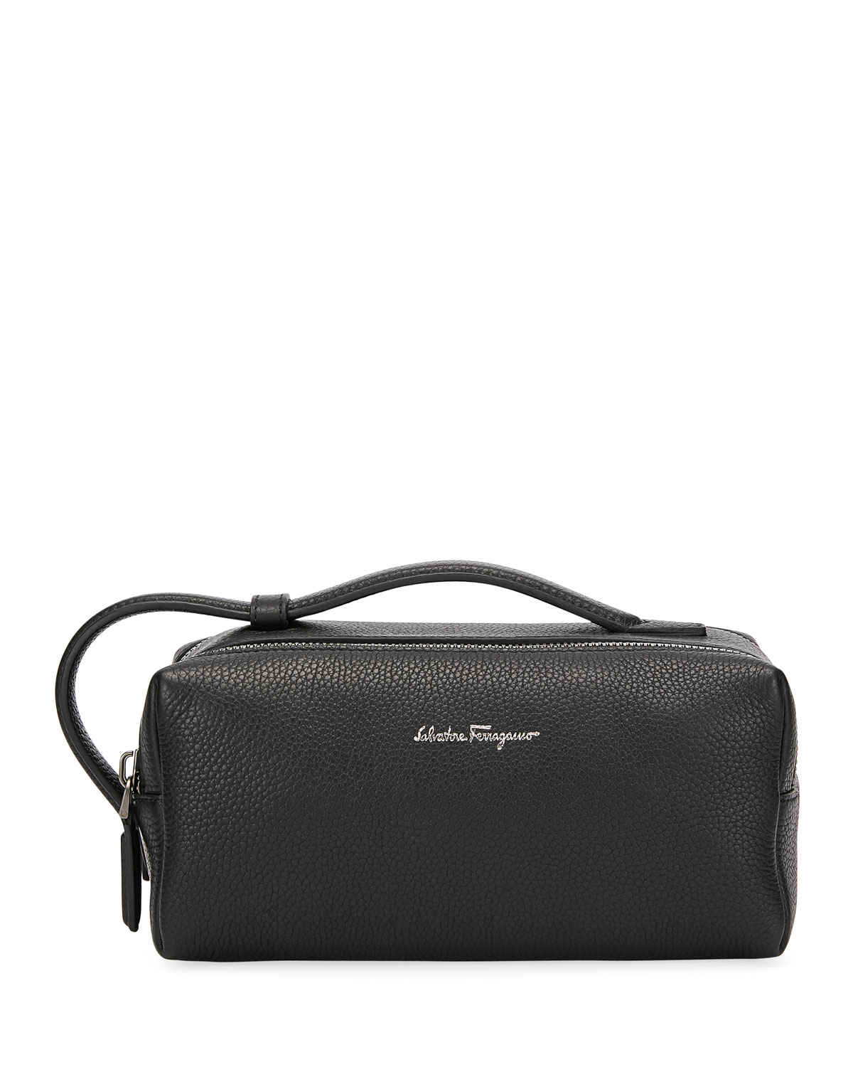 Salvatore Ferragamo Men s Firenze Leather Toiletry Bag  7d3b96d76d6d4