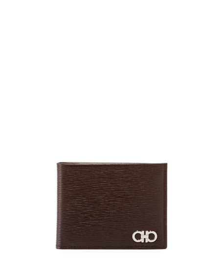 Salvatore Ferragamo Men's Revival Bi-Fold Lizard-Embossed Leather