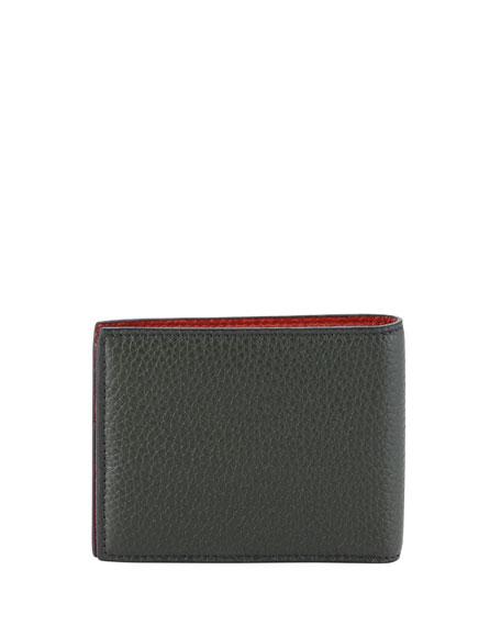 Men's Firenze Contrast-Lined Leather Bi-Fold Wallet