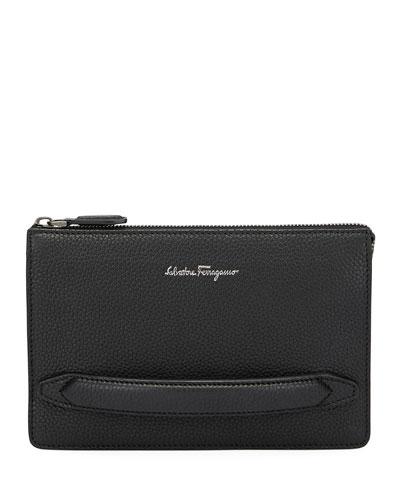 Salvatore Ferragamo Men s Firenze Leather Pouch with Handle 49698870cf