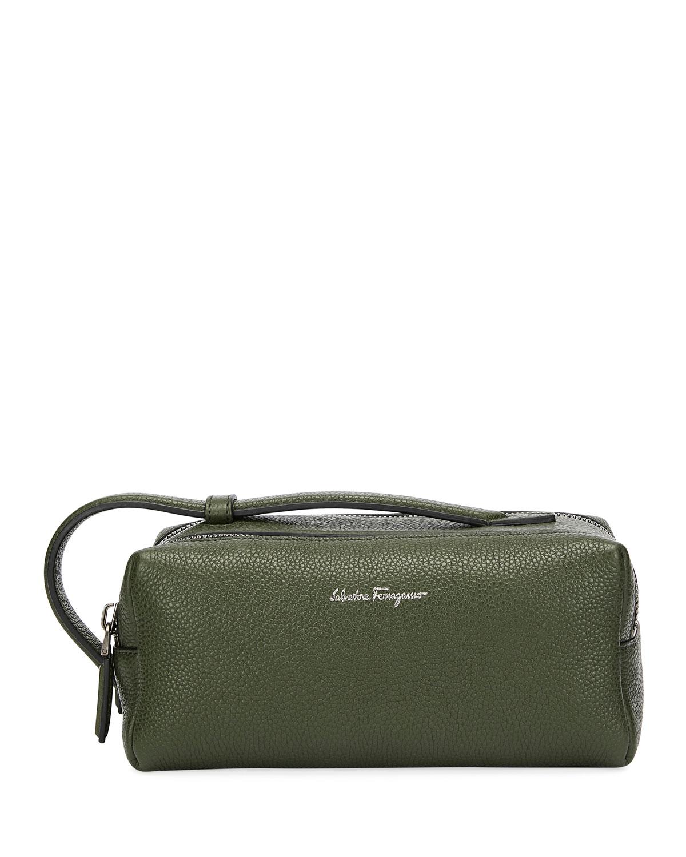 81ce1529b096 Salvatore Ferragamo Men s Firenze Leather Toiletry Bag