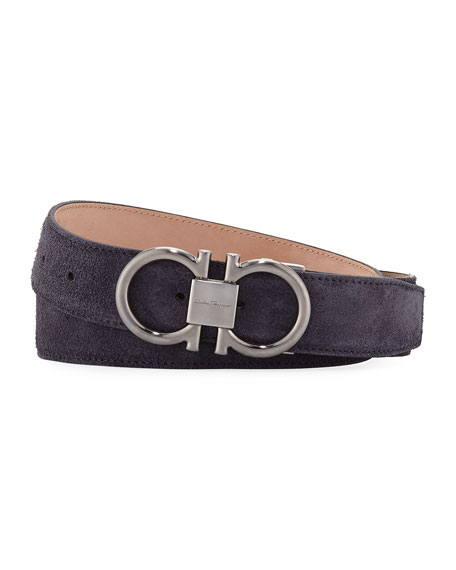 Men's Parigi Suede Gancini Belt