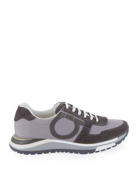 Men's Brooklyn Mixed-Media Trainer Sneakers