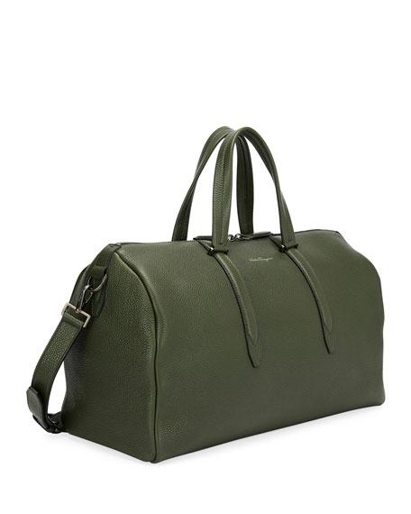 Men's Firenze Leather Weekender Duffel Bag, Green
