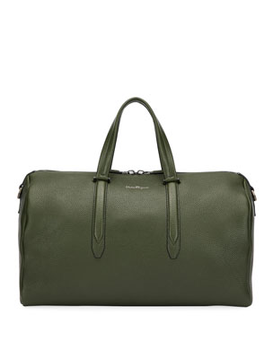 5b599f48b5ee Salvatore Ferragamo Men s Firenze Leather Weekender Duffel Bag