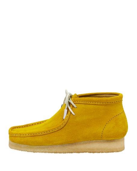 Men's Suede Wallabee/Moc Chukka Boot, Speed Yellow