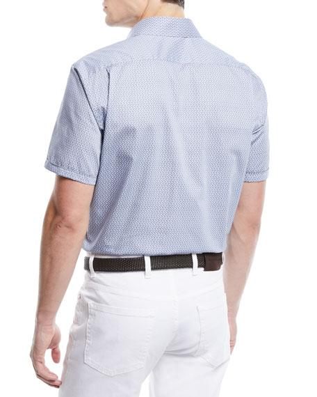 Men's Medium-Check Short-Sleeve Sport Shirt