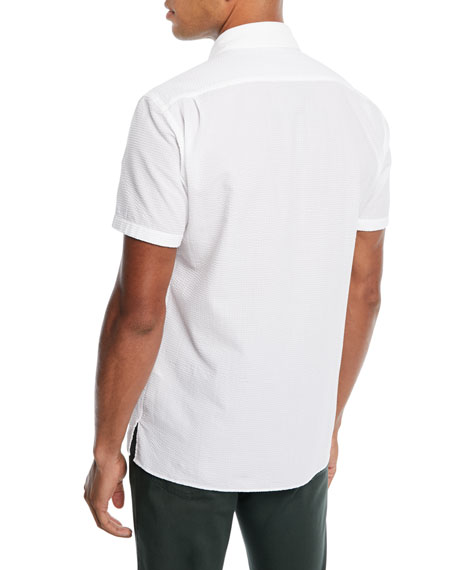 Men's Short-Sleeve Seersucker Sport Shirt