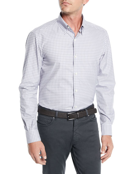 Ermenegildo Zegna Men's Check Woven Sport Shirt