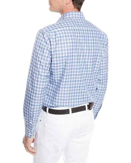 Men's Textured Woven Check Sport Shirt