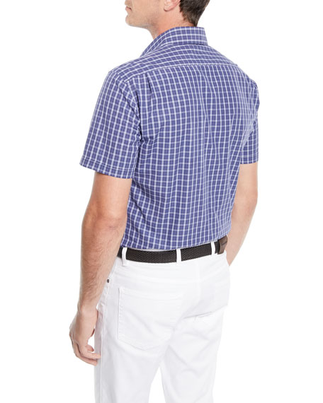 Men's Mid-Check Short-Sleeve Sport Shirt