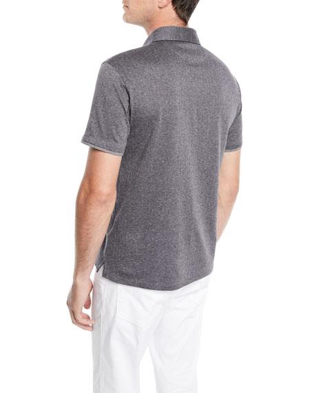 Men's Herringbone Polo Shirt