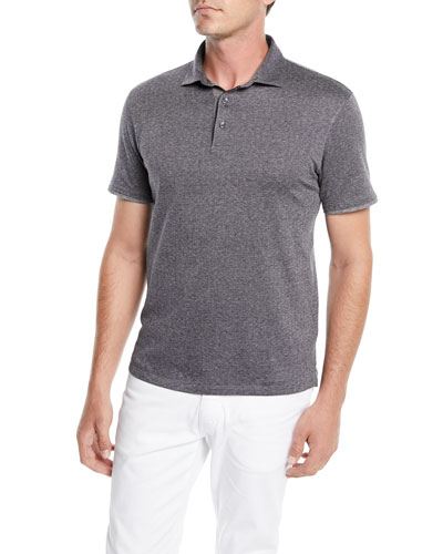 Men's Herringbone Polo Shirt