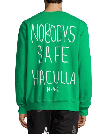 Men's Demon Dog Graphic Crewneck Sweatshirt