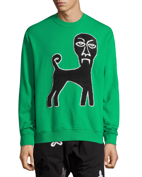 Haculla Men's Demon Dog Graphic Crewneck Sweatshirt