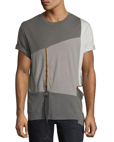 Men's Multicolor World in My Eyes Zip T-Shirt