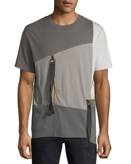 Men's Multicolor World in My Eyes Zip T-Shirt