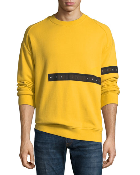 Men's Cut-Here Graphic Crewneck Sweatshirt