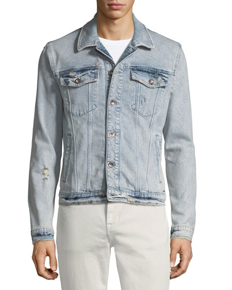 Men's Rogue Acid-Wash Denim Jacket