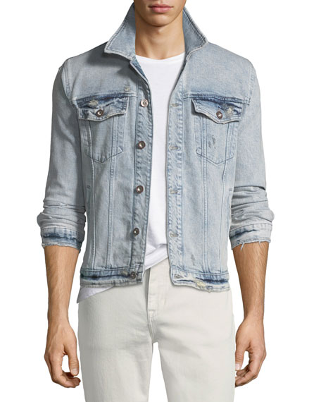 Joe's Jeans Men's Rogue Acid-Wash Denim Jacket