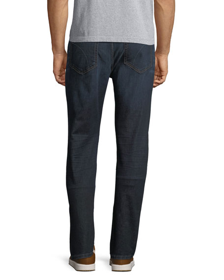 Men's Folsom Dark-Wash Straight-Leg Jeans, Clinton