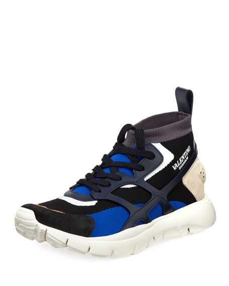 Valentino Men's Sound High-Top Sock Sneakers