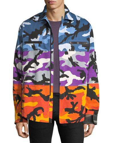 Men's Multicolor Camouflage Shuffle Shirt Jacket