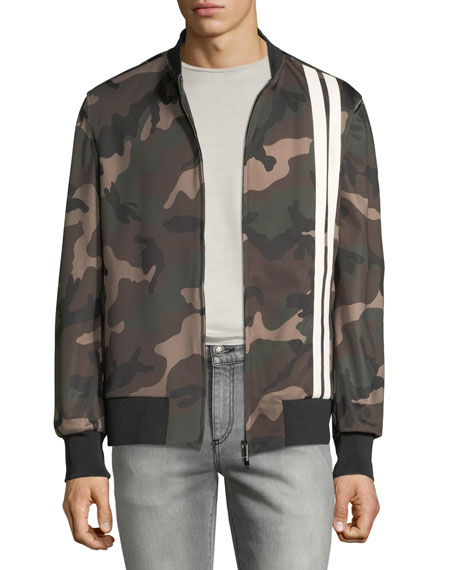 Valentino Men's Army Camo Track Jacket