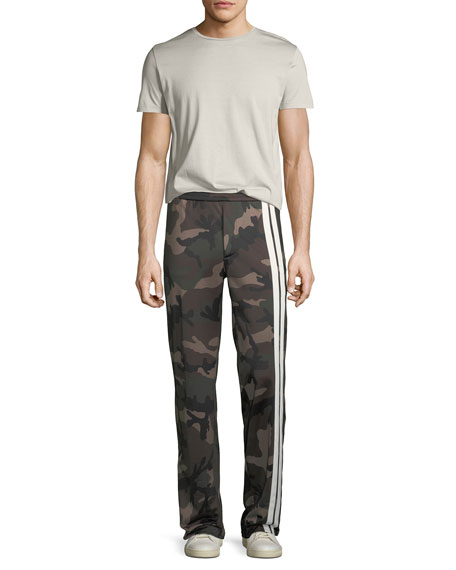 Men's Striped Camouflage Track Pants