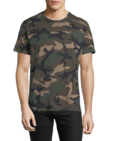 Men's Camouflage Crewneck T-Shirt, Green