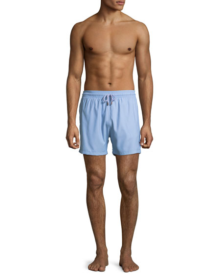 Solid Swim Trunks, Gray