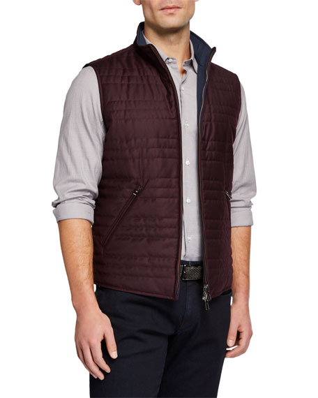 Loro Piana Men's Marlin Reversible Zip-Front Vest