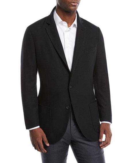 Men's Houndstooth Two-Button Soft Jacket